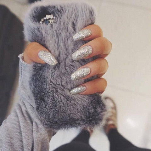 Fabulous Fur Phone Case: Grey -  - ai-candy-bling.myshopify.com
