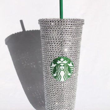 Starbucks Crystal Bling Cold Drink Tumbler Cup