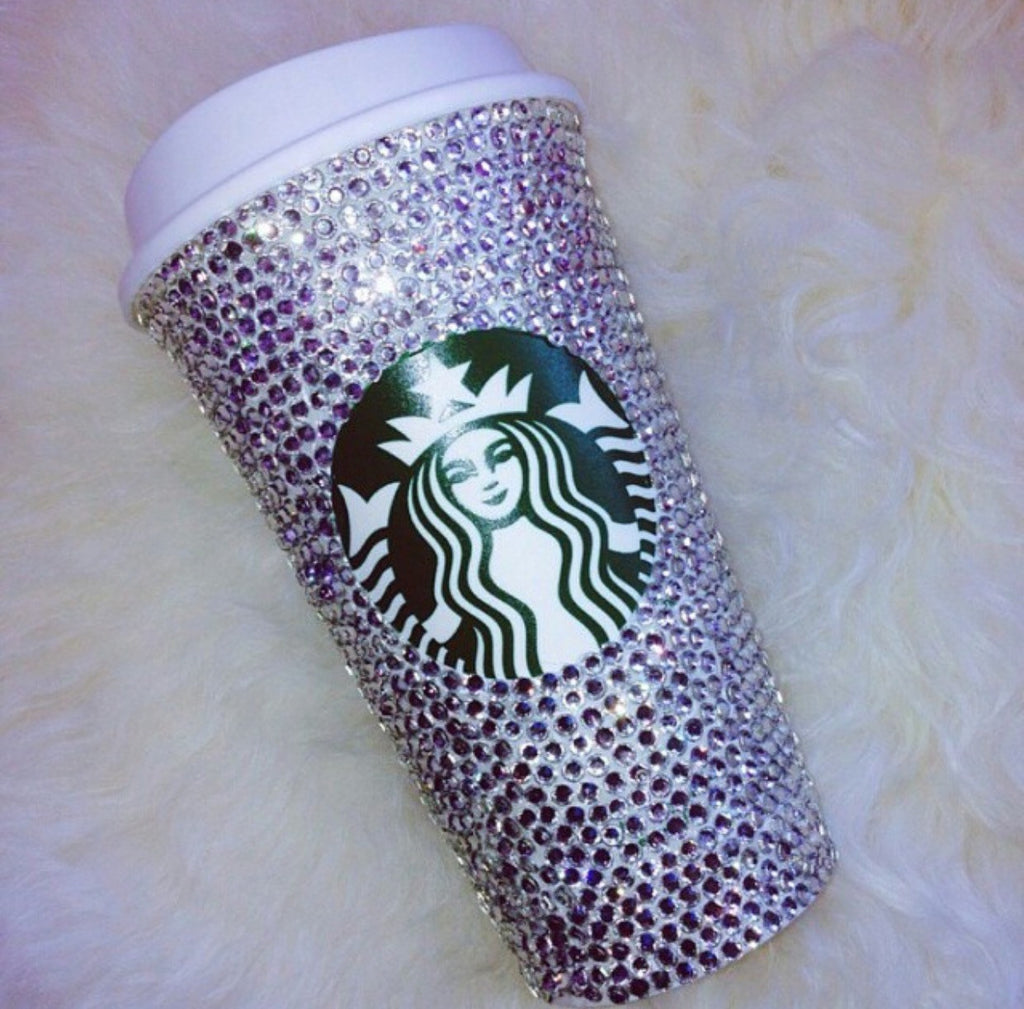 Crystal Bling Starbucks Cup Hot Drink Tumbler (16oz)