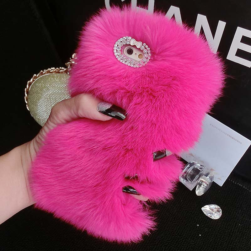 Fabulous Fur Phone Case: Hot Pink -  - ai-candy-bling.myshopify.com
