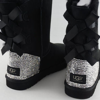 Women's UGG Bailey Bow II Boots made with Xirus 2088 SWAROVSKI® Crystals