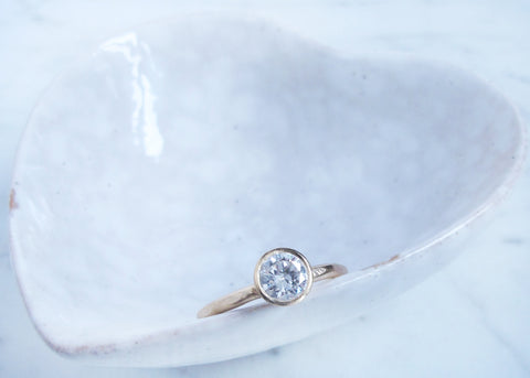 AJ engagement ring- diamond and yellow gold