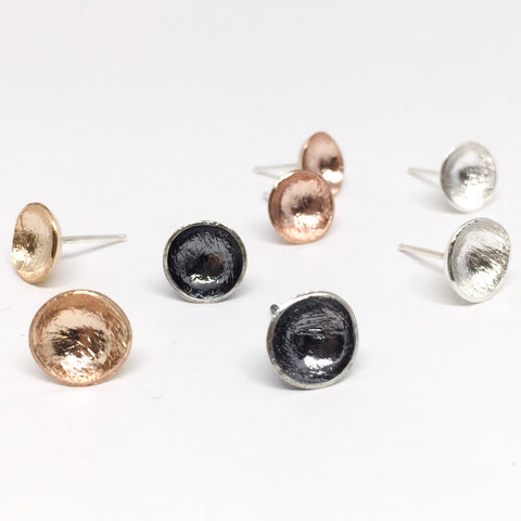 Cup studs- silver - Shepherd's Run Jewelry