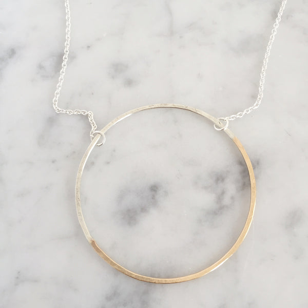 Half and Half Halo Necklace