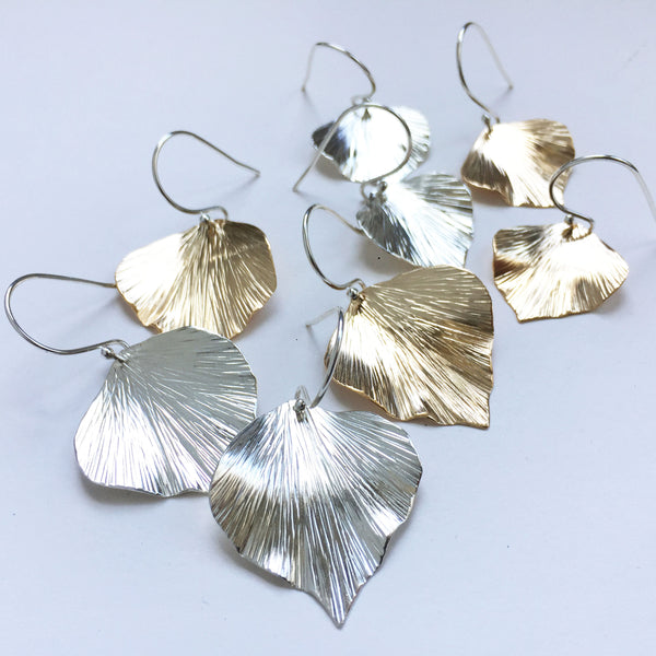 Goldfill ivy leaf earrings - Shepherd's Run Jewelry