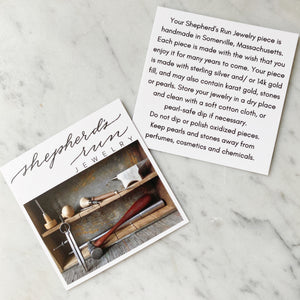 Shepherd's Run Jewelry Care Card
