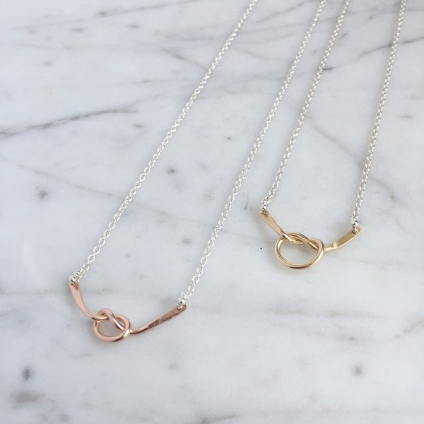 Loveknot necklace - Shepherd's Run Jewelry