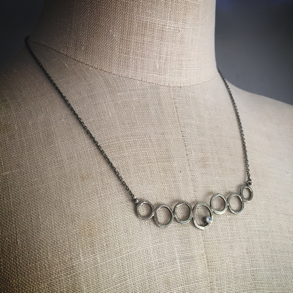 Oxidized nucleus necklace - Shepherd's Run Jewelry