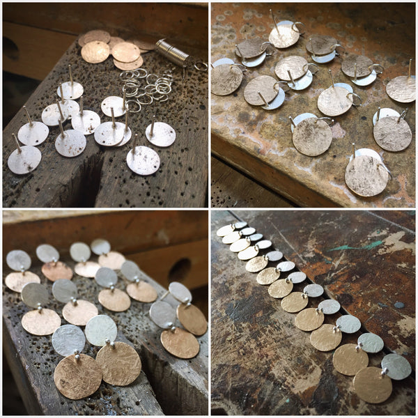 Buttoned Up Studs - Shepherd's Run Jewelry