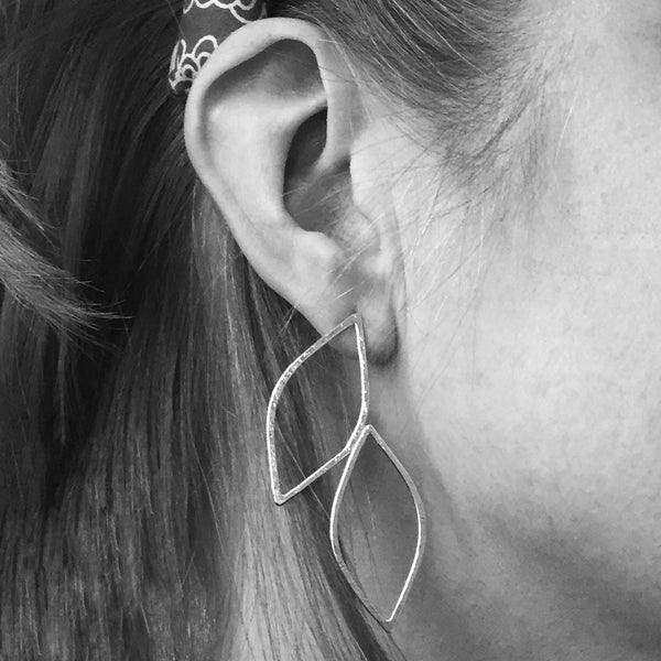 Willow Leaf Stud Earrings