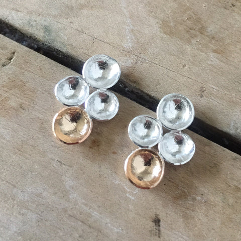 Quad cup studs - Shepherd's Run Jewelry