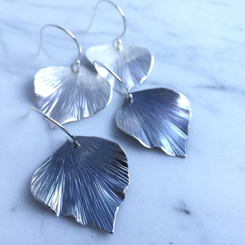 Large Ivy Leaf Drops - Shepherd's Run Jewelry