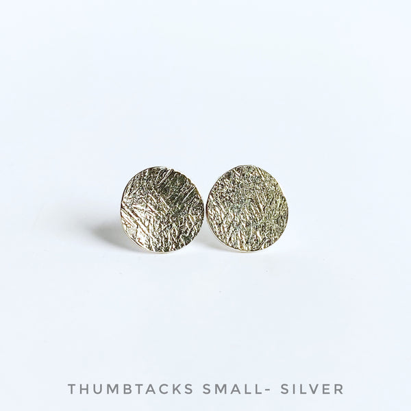 Thumbtack stud earrings