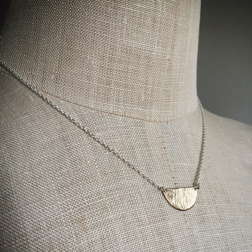 Tiny half moon necklace - Shepherd's Run Jewelry