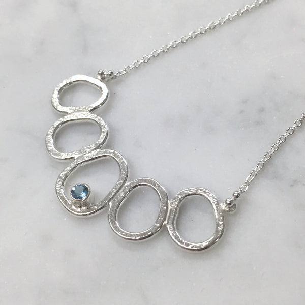 Nucleus necklace with Aquamarine