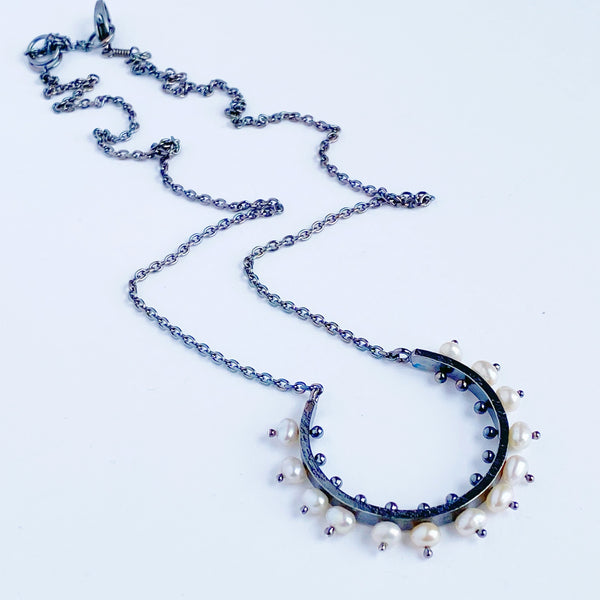 Radiant Pearl Necklace- medium