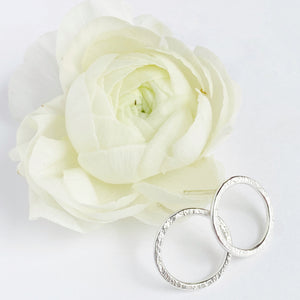 Halo Stud- Sterling silver WS