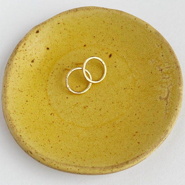 Halo Stud- 14k yellow gold-fill