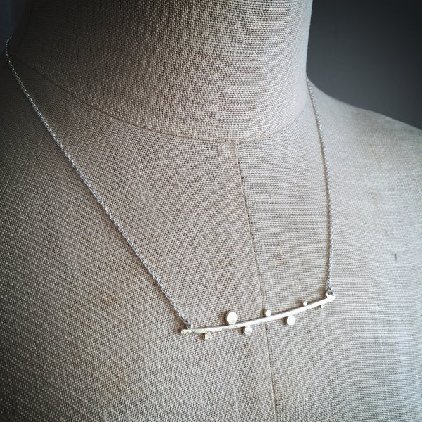 Dotted twig necklace - Shepherd's Run Jewelry