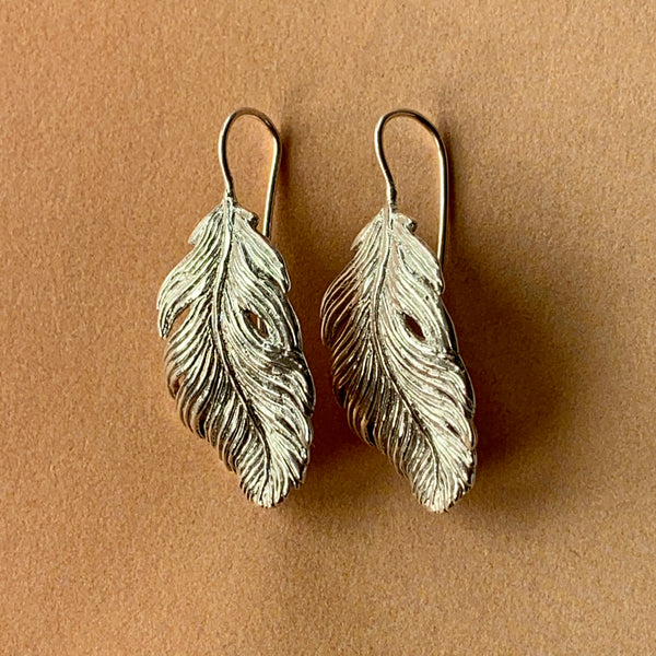 Plume Feather Drop Earring