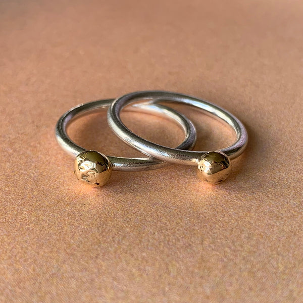 Yellow Gold Pebble Ring