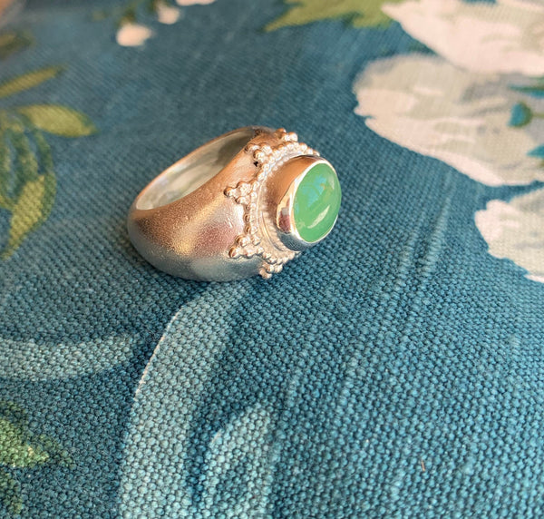 Star Ring + Chrysoprase