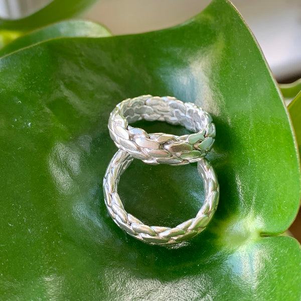 Rope Ring  - size Q open back for possible re-sizing
