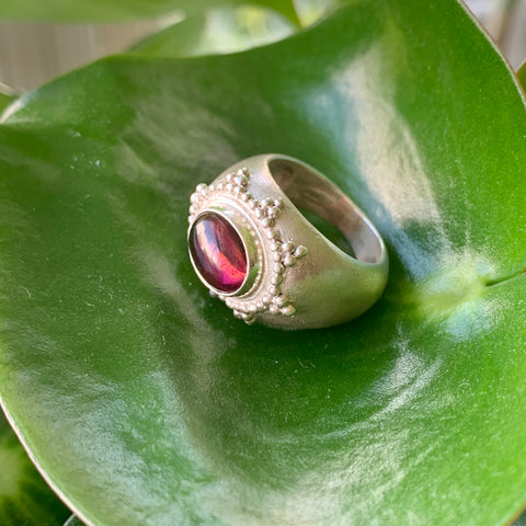 Star Ring + Pink Tourmaline
