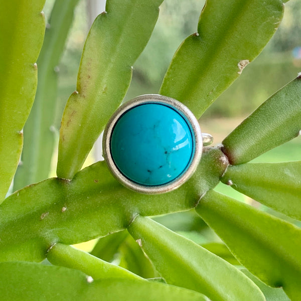 Halo Ring + Turquoise