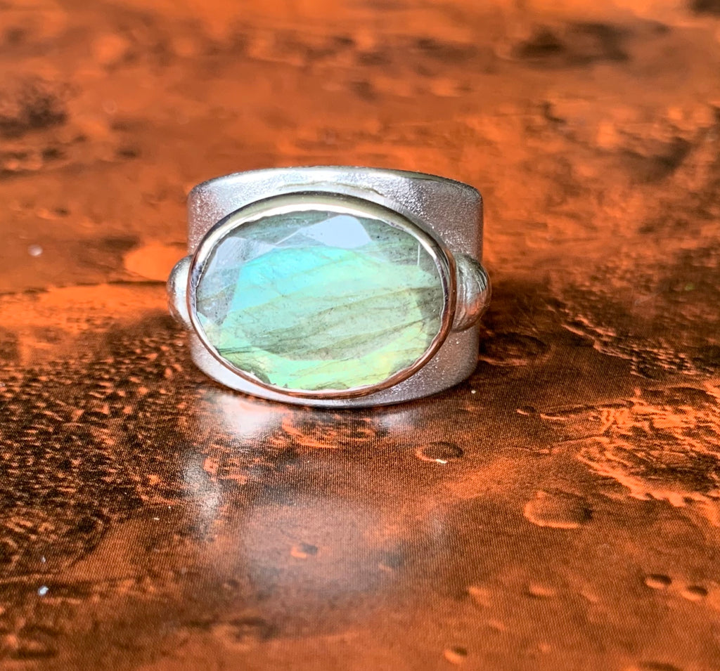 Commissions taken -Luna Ring + Labradorite