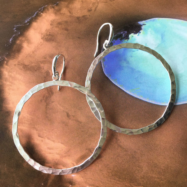 Large Circle drop Earrings