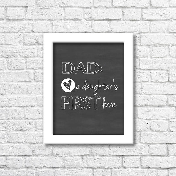 A Daughter's First Love Art Print  Blue Orchid Designs