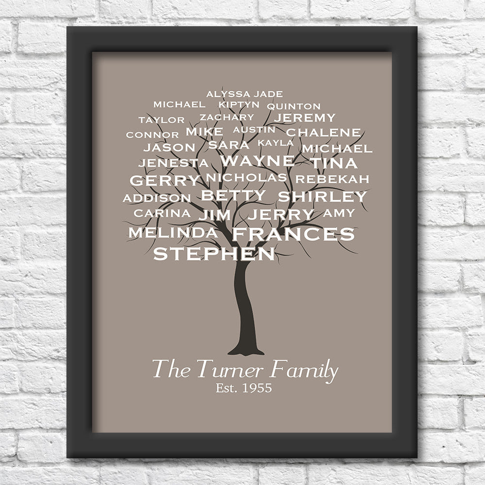 Personalized Family Tree Art Print