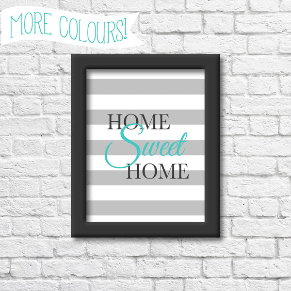 Home Sweet Home Art Print  Blue Orchid Designs