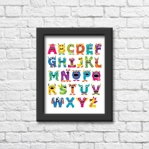 Monster Alphabet Art Print