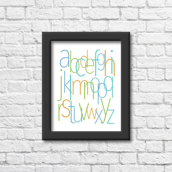 Beach Alphabet Art Print Art Print Blue Orchid Designs
