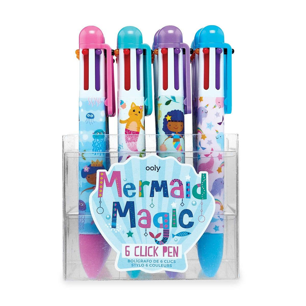OOLY - 6 Click Pens: Mermaid Magic