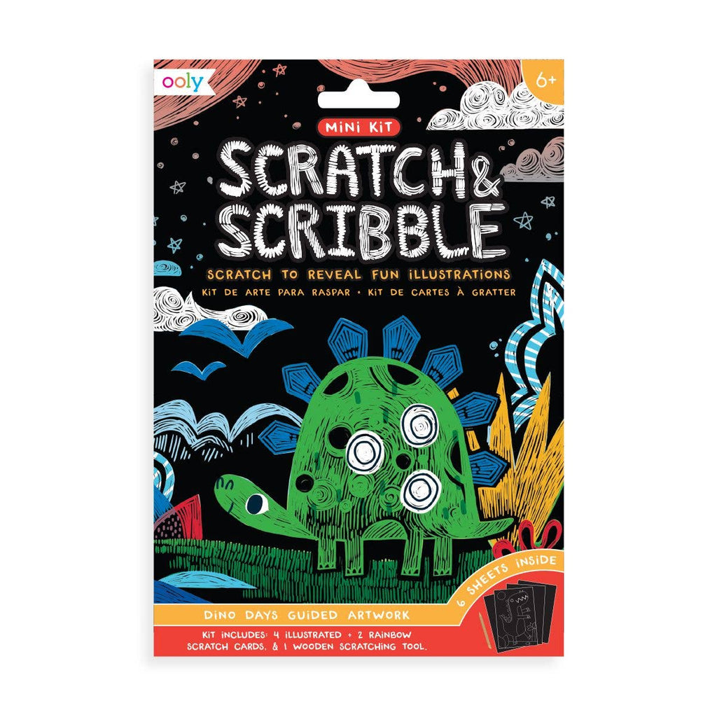 OOLY - Mini Scratch & Scribble Art Kit: Dino. Days