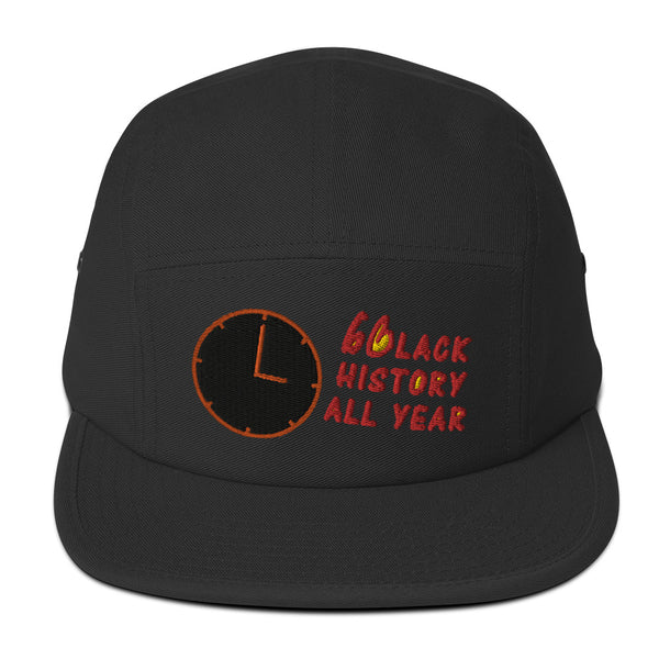 Black History All Year Five Panel Hat