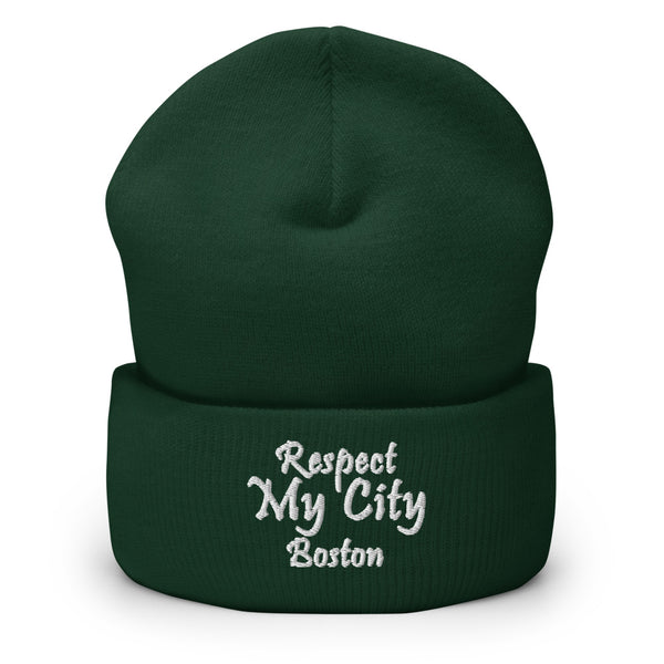 Respect My City Boston Cuffed Beanie
