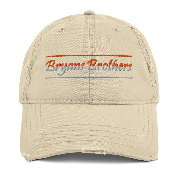 Two Tone Bryans Brothers Distressed Dad Hat