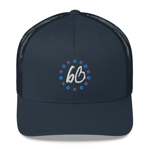 bb XO Logo Trucker Hat