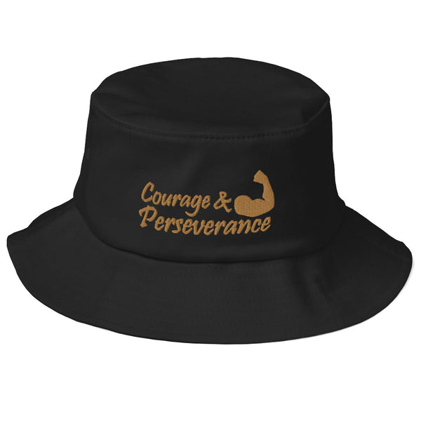 Courage & Perseverance Old School Bucket Hat