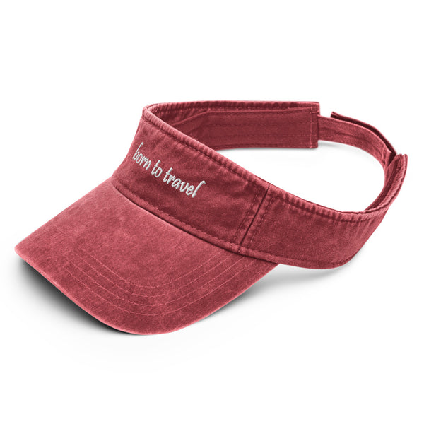 Born To Travel Denim Flexfit Visor