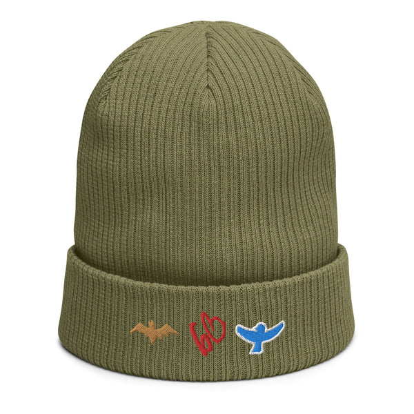 bb Bat/Bird Logo Organic Ribbed Beanie