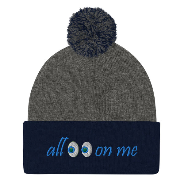 All Eyes On Me Pom-Pom Beanie
