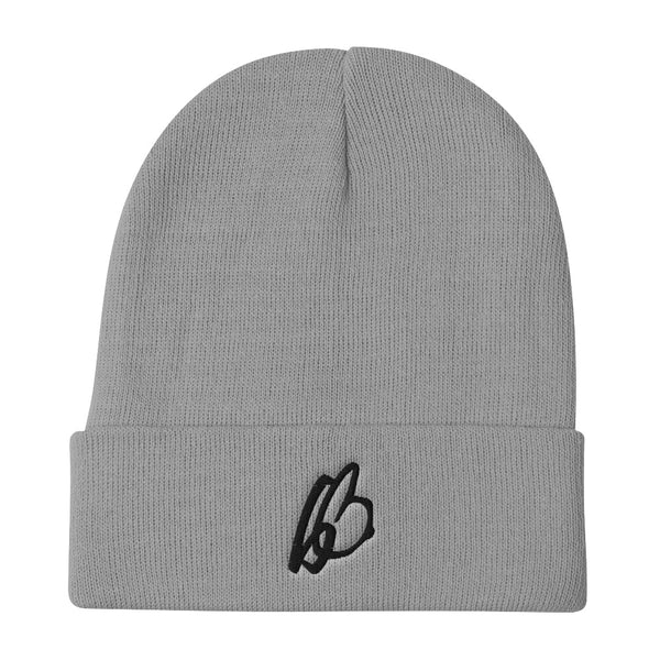 b On b Logo Embroidered Beanie