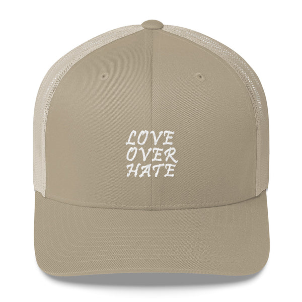 Love Over Hate Trucker Hat