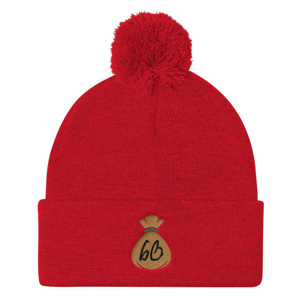 bb Bag Logo Pom Pom Knit Beanie