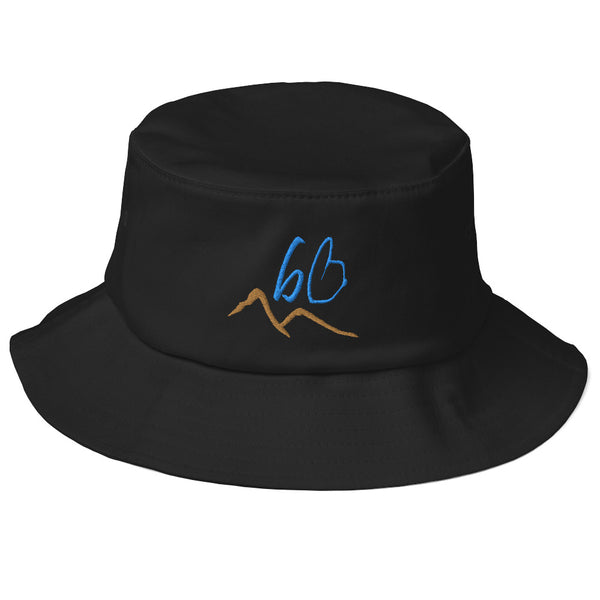 bb Mountains Logo Old School Bucket Hat